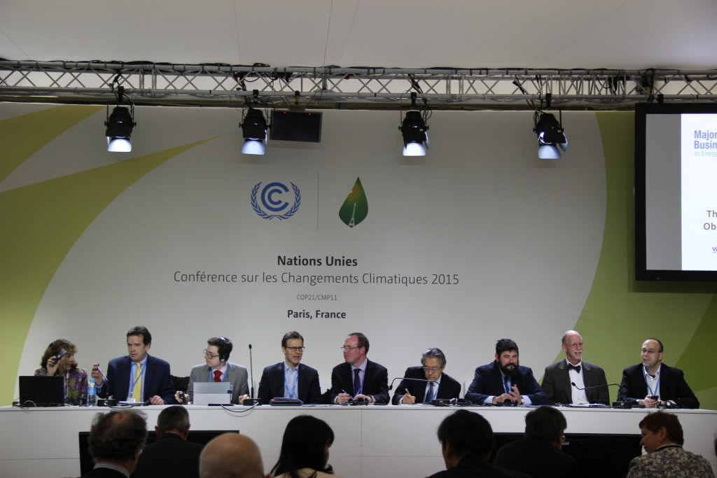 Ai Group (third from left) and a range of equivalent organisations representing businesses in Europe, Japan, New Zealand and the United States compared notes on businesses views on the national climate commitments their governments have made – and how business was involved in the decision-making process.